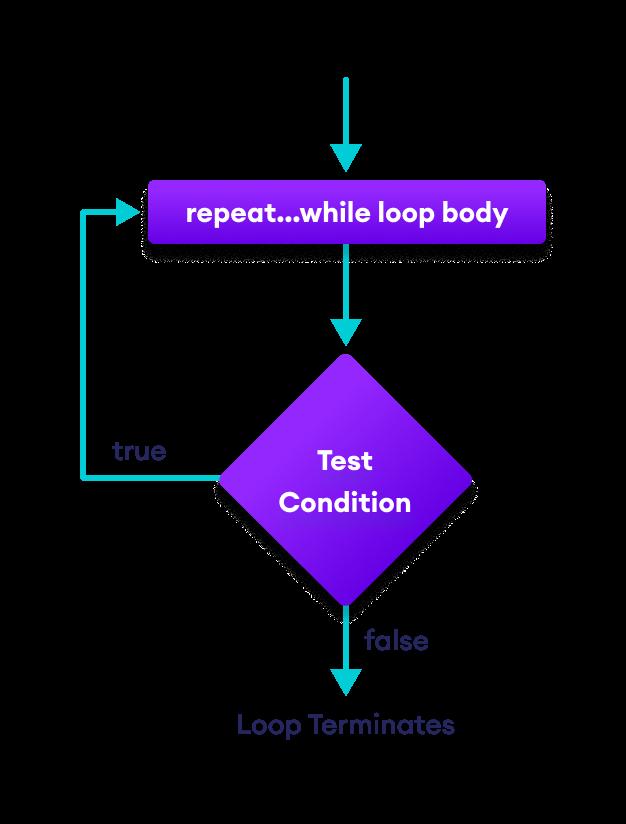 How repeat...while loop works