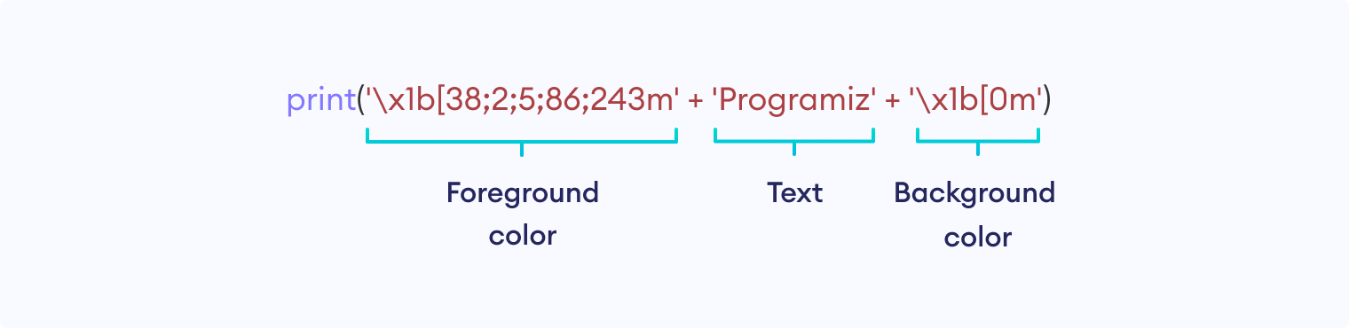 Code for colored terminal