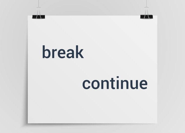 break and continue statement in Programming