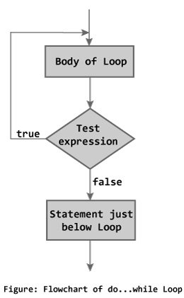 do while loop flowchart in C programming