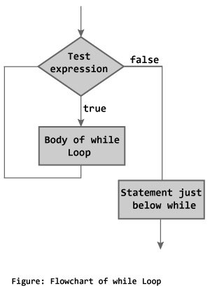flowchart of while loop in C programming