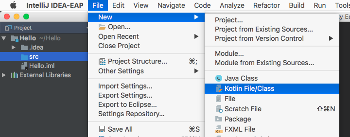 Create a new Java class in IntelliJ IDEA