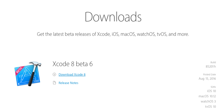 Download X Code from Apple developer site