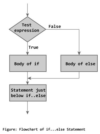 Flowchart of if...else statement in C++ Programming