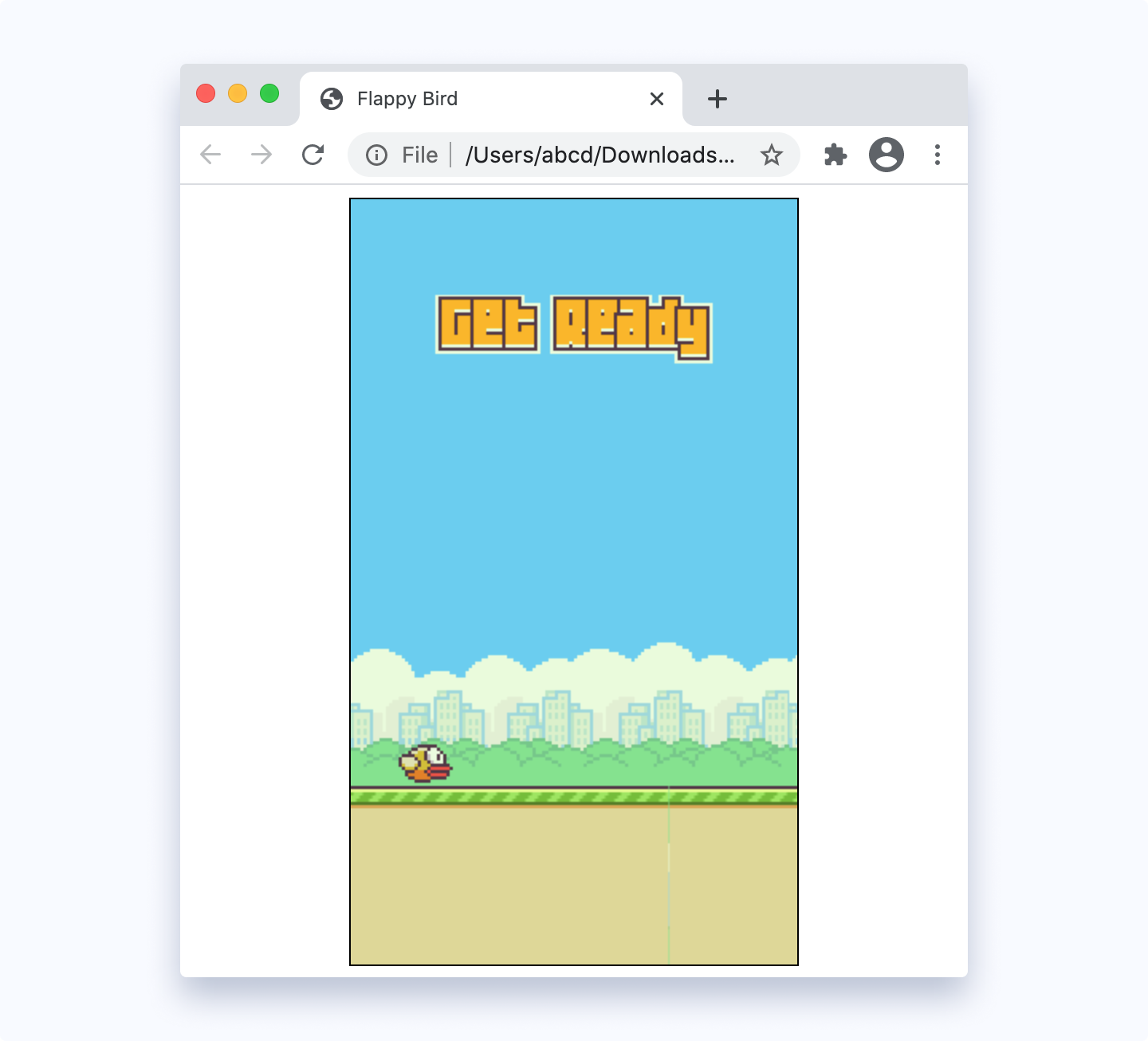 Example of a game created in JS