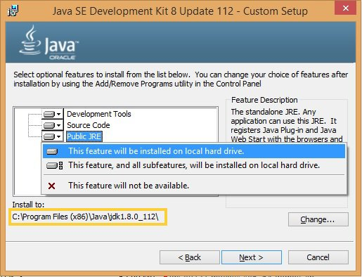 Enable all features in JAVA