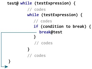 Kotlin Labeled break