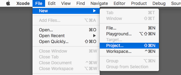 Navigate to project in Xcode