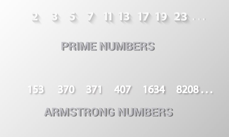 Check prime and armstrong number