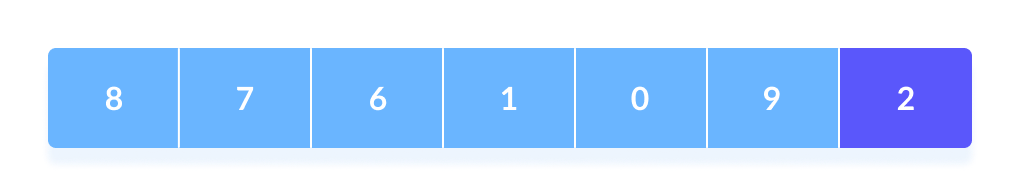 Quicksort step