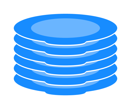 elements on stack are added on top and removed from top just like a pile of plate